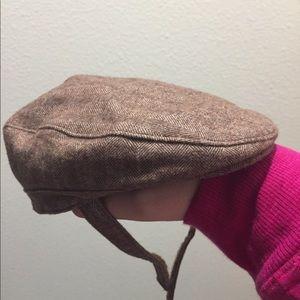 Janie & Jack Herringbone Newsboy Baby hats